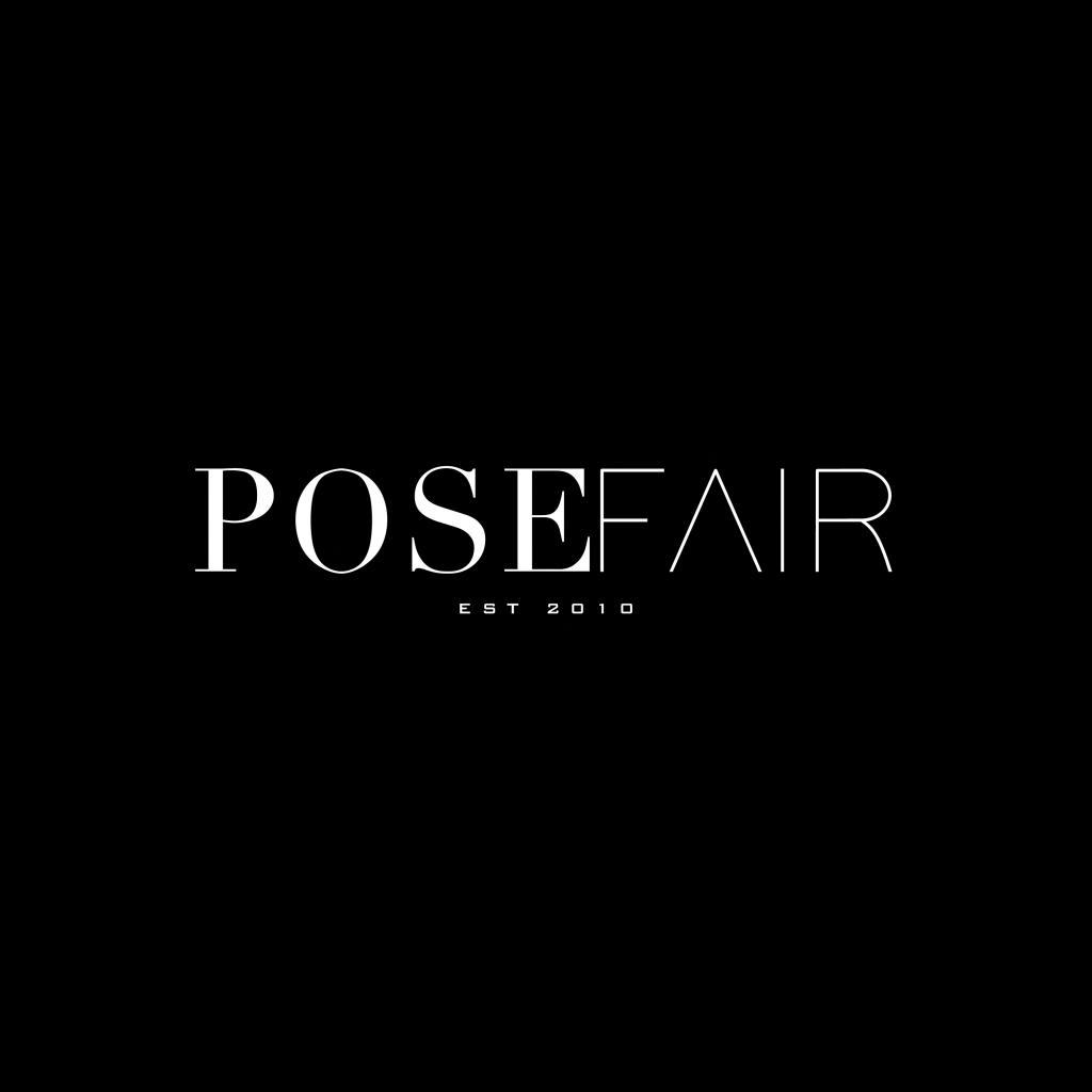 Pose Fair Logo - Square - Black